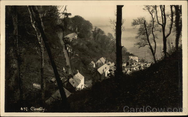 View of Village in Valley Clovelly England