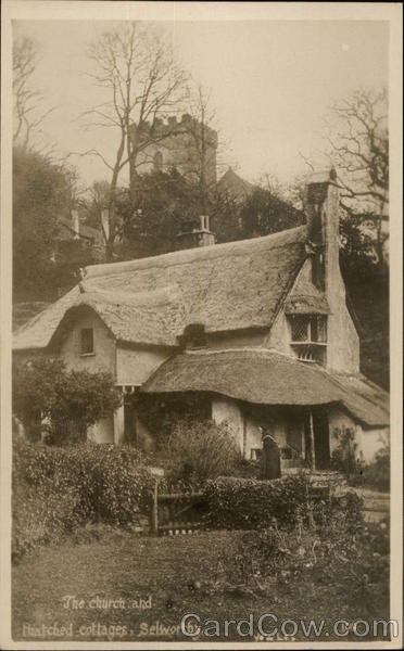 The Church and Thatched Cottages Selworthy England