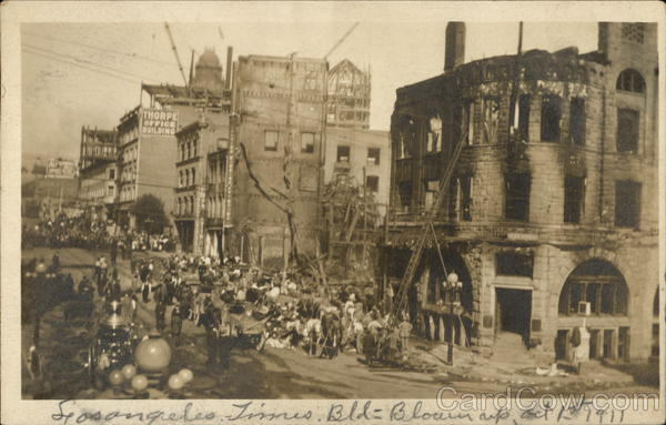 1910 Los Angeles Times Building Bombing California