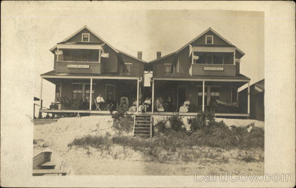 People Sitting on a Large Porch by the Sand Fairfield Connecticut