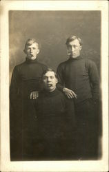 Three Men Posing with Cigars