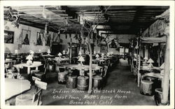 Indian Room of the Steak House, Ghost Town, Knott's Berry Farm