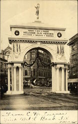 Arch Erected To Honor WWI Returning Soldiers