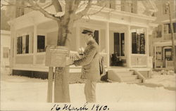 Mail Being Delivered in Franklin, Mass.