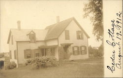 Ceder Cottage in 1912 in Franklin, MA