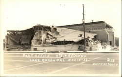 Post Office, 9th & Redondo, Destroyed Postcard