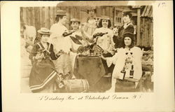"""A Drinking Bee"" at White Chapel, Dawson City, Yukon Territory Postcard"