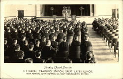 U.S. Naval Training Station - Sunday Church Service