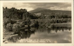 Private Fish Pond and Mt. Moosilauke in Warren, NH