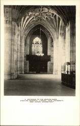 Entrance to the Reading Room, Sterling memorial Library, Yale University