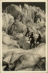 Men Hiking on on a Glacier