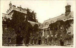 Lincoln College - Front Quadrangle Postcard