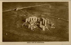 Aerial View of Stonehenge Postcard