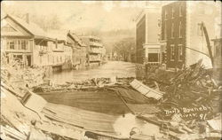 A Collapsed Building by a River in 1891
