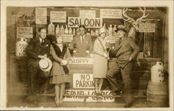 Two Couples and a Bartender at a Saloon