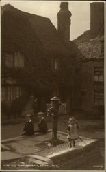Old Pump, Children, Landgate Square Postcard