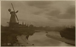 Windmill and River Postcard