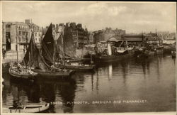 Barbican and Fish Market Postcard