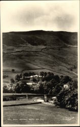 Fell Hotel, Burnsall Bridge and Fell Postcard