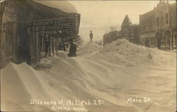 Blizzard of 1912, Feb. 25th - Main St.
