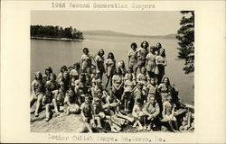1946 Second Generation Campers at Luther Culick Camp Postcard