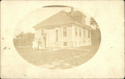Women and Children in front of a House in NH