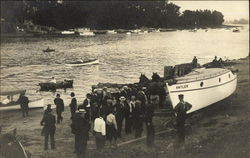 "Initial Launch of Boat ""Antler"""