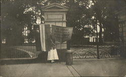 Rare Suffrage Suffragette Flag & Banner Picketing White House