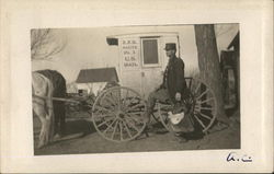 Horse-Drawn Postman Delivery Wagon