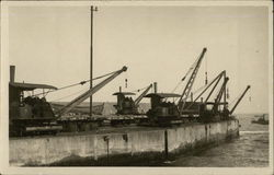 Cranes on a Dockside