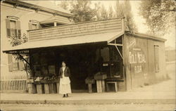 Woman in Front of Grocery Store H. A. Sacco