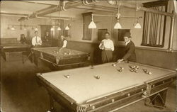 Men in Billiard Room
