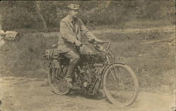 Man on Curtis Motorcycle Pennsylvania 17301 Plate