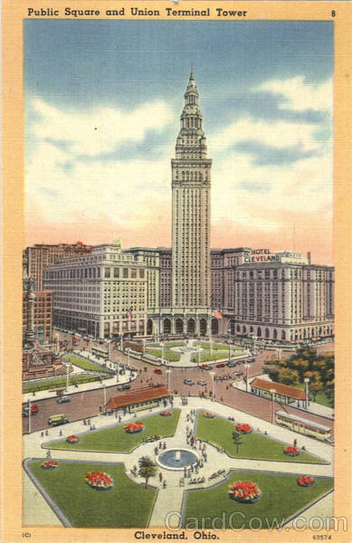 Public Square And Union Terminal Tower Cleveland Ohio