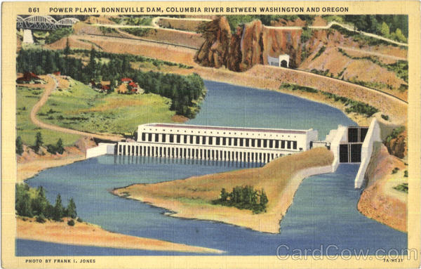 Power Plant, Bonneville Dam Columbia River Oregon