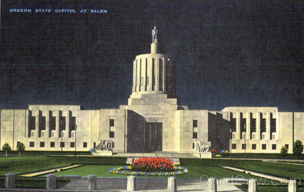 Oregon State Capitol At Salem