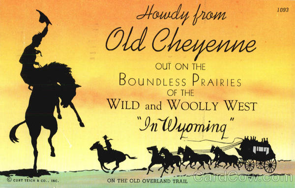 On The Old Overland Trail Cowboy Western