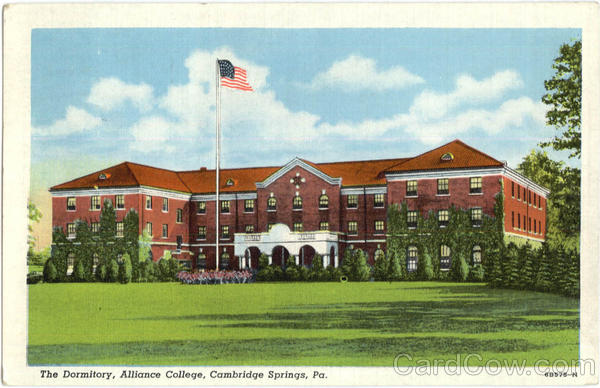 The Dormitory , Alliance College Cambridge Springs Pennsylvania