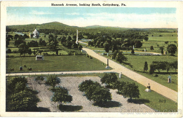 Hancock Avenue Looking South Gettysburg Pennsylvania