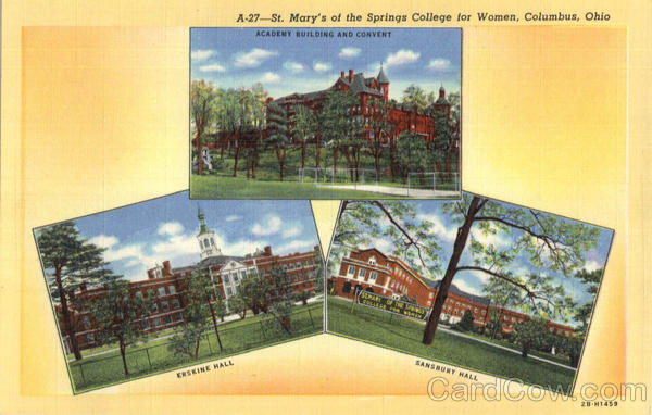 St. Mary's Of The Springs College For Women Columbus Ohio