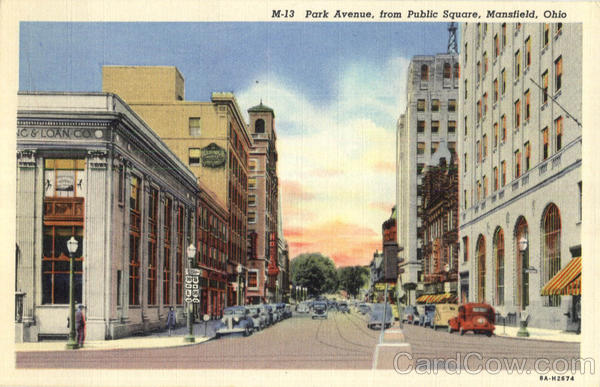 Park Avenue From Public Square Mansfield Ohio