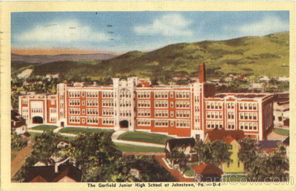 The Garfield Junior High School Vintage Postcard