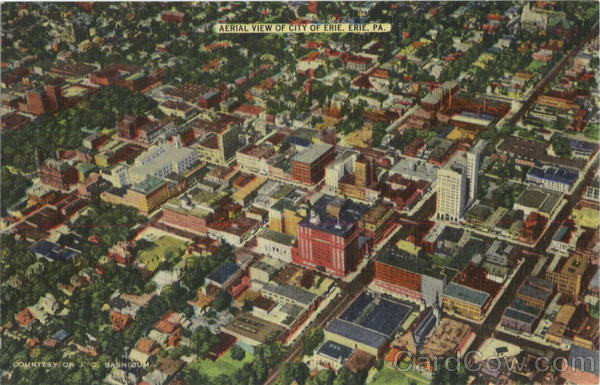 Aerial View Of City Of Erie Pennsylvania