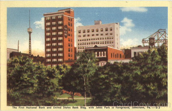 The First National Bank And United States Bank Bldg. Johnstown Pennsylvania