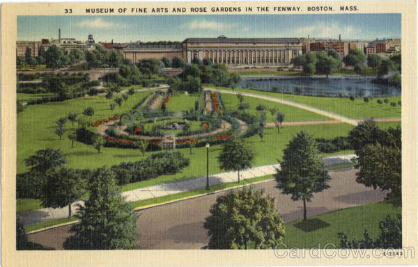Museum Of Fine Arts And Rose Gardens In The Fenway Boston Massachusetts