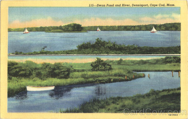 Swan Pond And River, Dennisport Cape Cod Massachusetts