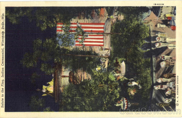 Salute To The Flag, Indian Ceremonial Wisconsin Dells