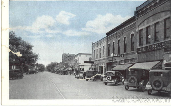 Main Street Looking South Waupaca Wisconsin