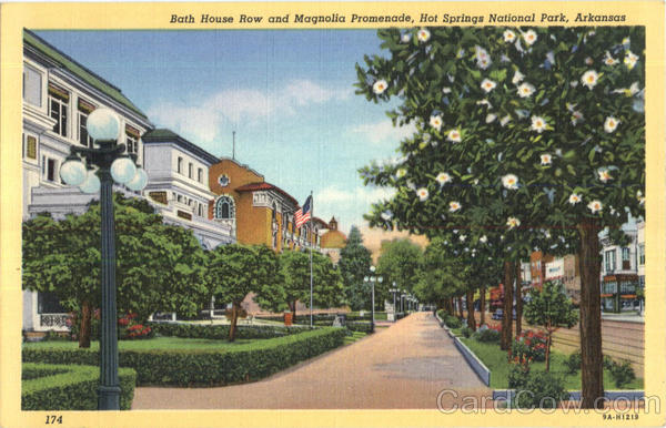 Bath House Row And Magnolia Promenade, Hot Springs National Park
