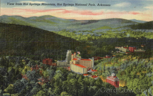 View From Hot Springs Mountain, Hot Springs National Park